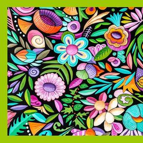 SP towel Fun flower