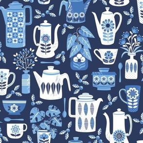 Blue coffee time