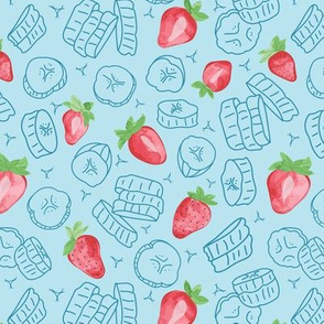 strawberry smoothie (lite blue)