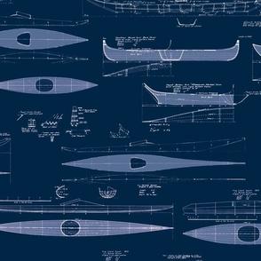 Antique Kayaks Blueprint 150