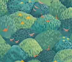 Woodland dinosaurs