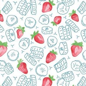 strawberry smoothie (white)