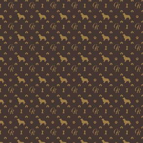 Louis Golden Retrievers Luxury Dog Pattern