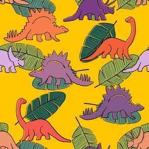 Letterpress Dinos Bright