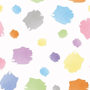 Seamless abstract pattern color brush stroke_sample 0