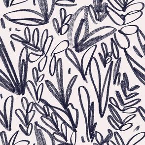 Scribbles - Navy
