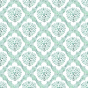 Batik Trellis - green