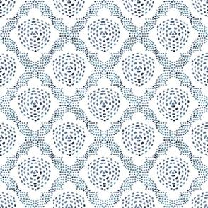 Batik Trellis - Indigo Blue