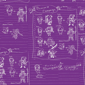 DnD Memories-OurGang2 WhiteMauve
