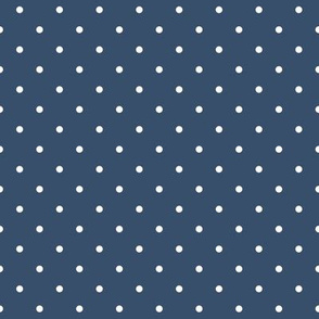 white dots on navy blue