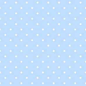white dots on baby blue