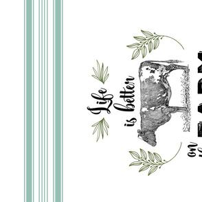 TEA TOWEL FARM FRESH EUCALYPTUS