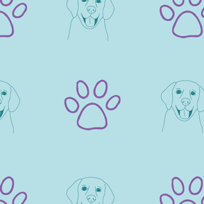 light blue dogs life icons