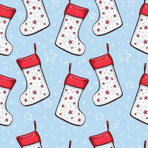 Xmas socks and stars