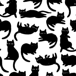 Lounging Kitties