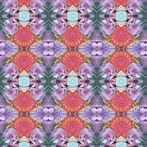 Glass in Salmon and Purple