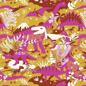 Dino world | pink gold