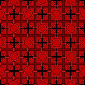 Circle Cross in Red