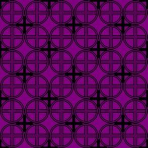 Circle Cross in Purple