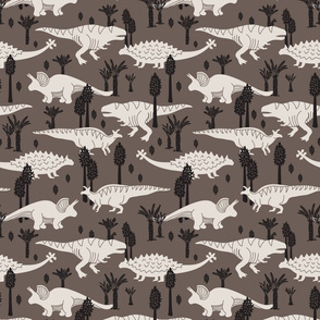 Dinosaurs - Medium - Taupe
