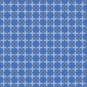 Mini Circle Cross in Blue