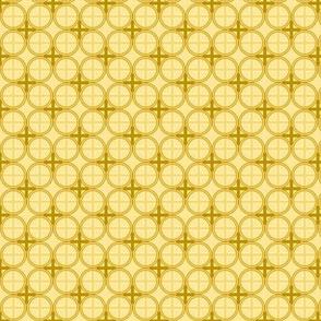 Mini Circle Cross in Gold