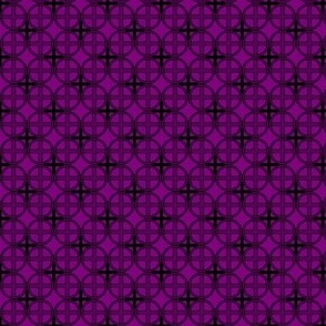 Mini Circle Cross in Purple