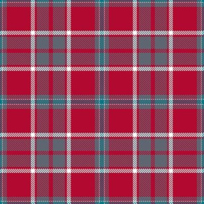 Chunky Red Gray Silver and Black Plaid
