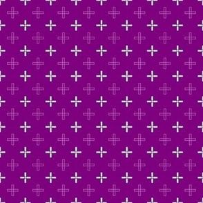 Mini Open Greek Cross in Purple