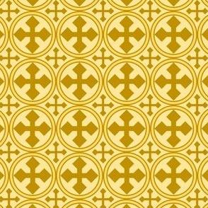 Gold Circle Cross