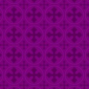 Greek Circle Cross in Purple