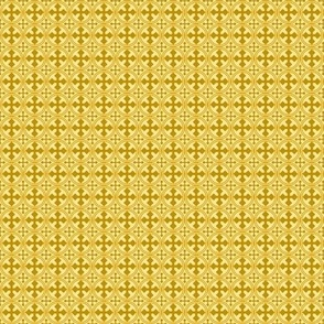 Mini Gold Circle Cross