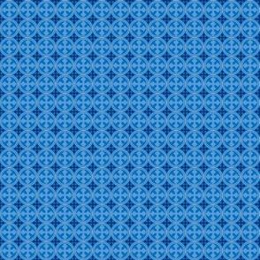 Mini Greek Circle Cross in Blue