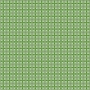 Mini Greek Circle Cross in Green