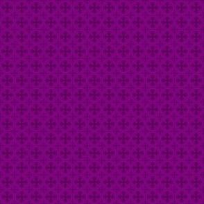 Mini Greek Circle Cross in Purple