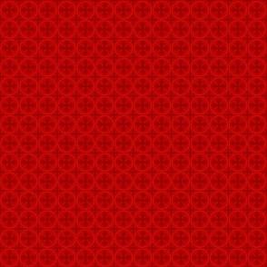 Mini Greek Circle Cross in Red