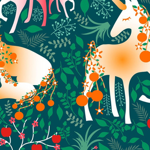 Once_upon_a_time-_mystical_woodland_with_apple_deers_and_orange_unicorns-_jumbo_scale