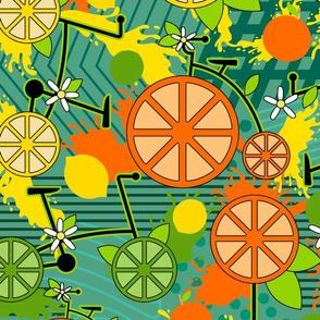 Citrus Pop Bikes- Teal- Large Scale