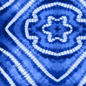 Shibori Mandalas Blue Large Scale