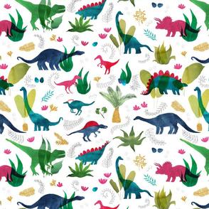 Dinosaur Safari watercolour
