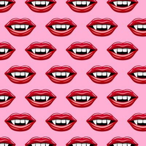 (small scale) Vampire Lips - bright pink - halloween - LAD19BS