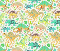 Happy Dinos - citrus colors, large