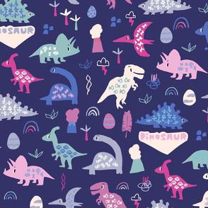 dinosaurs purple