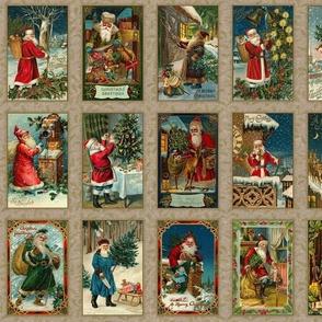 Vintage Santas Panel-C