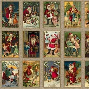 Vintage Santas Panel-D
