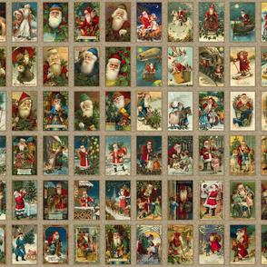 Vintage Santas Panels A-D