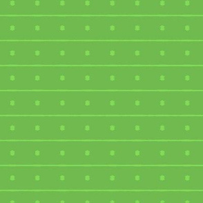 Green Dotted Stripes