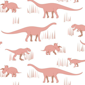 dinosaurs pattern- red-large