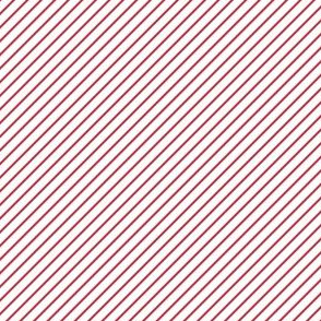 Festive Diagonal Stripes (Red and White)