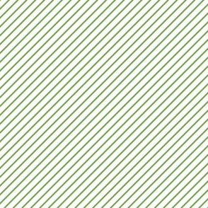 Merry Diagonal Stripes (Green and White)